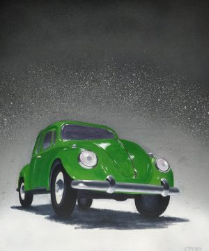 Toy Car Green Beetle
